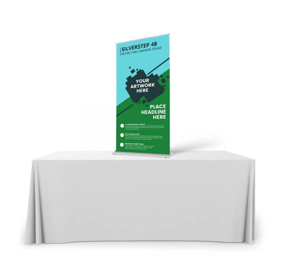 Silverstep Tabletop 48'' Retractable Banner Stand